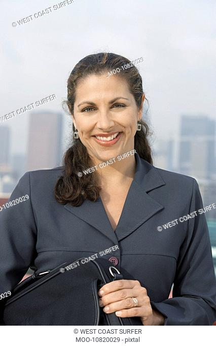 Business woman outdoors