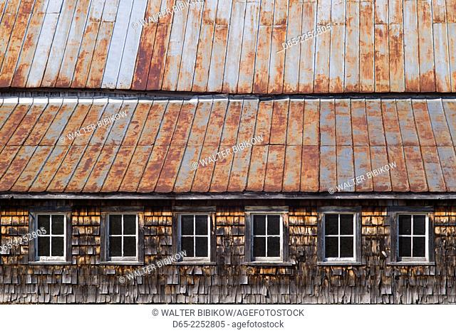 USA, Vermont, Plymouth, Birthplace of former US President Calvin Coolidge, 30th US president, barn