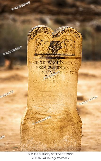 Tombstone in the Grafton Cemetery, Grafton ghost town, Utah USA