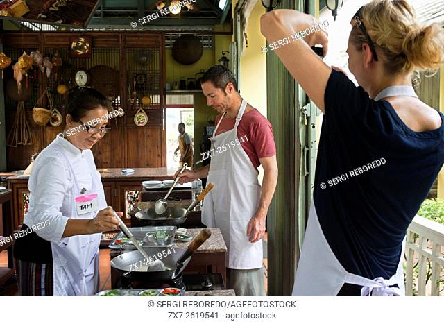 Amita Thai Cooking School. Bangkok. Thailand. Amita Thai Cooking class is located within the landscape of the Chao Phraya River