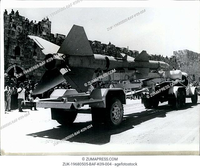 May 05, 1968 - Israel Celebrates 20th Anniversary of its Independence with a Military Parade: Israel Celebrated its 20 years of Independence with a big Military...