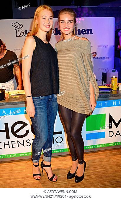Benefizkochen (Benefit cooking) in aid of Kinderhospiz Sonnenhof at Hotel Best Western Moa. Featuring: Samantha and Antonia (GNTM) Where: Berlin