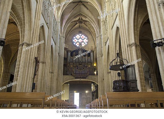 Cathedral Church Nave, Bayonne; France