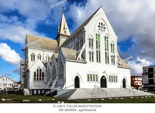 St. George's Anglican Cathedral in Georgetown, Guyana, at 143 feet tall, is one of the tallest timber-built buildings in the world