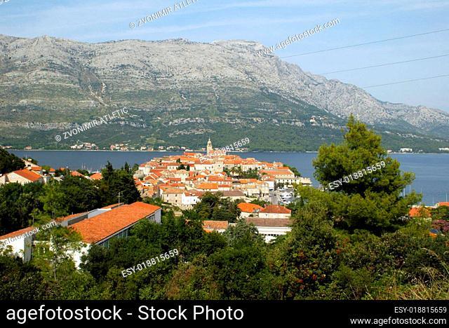 Korcula.Small island city near Dubrovnik