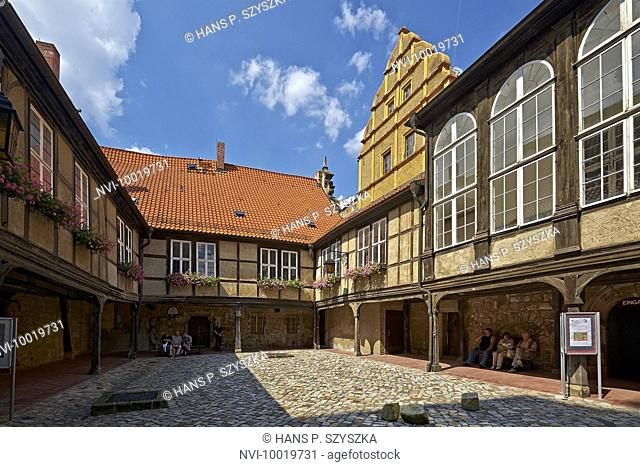Courtyard on the Schlossberg in Quedlinburg, Saxony-Anhalt, Germany