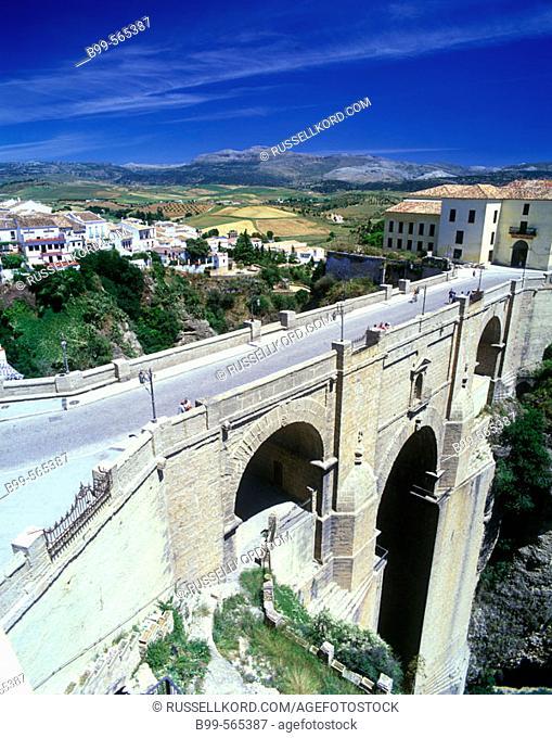Puente Nuevo Bridge, Tajo Gorge, Ronda, Andalucia, Spain
