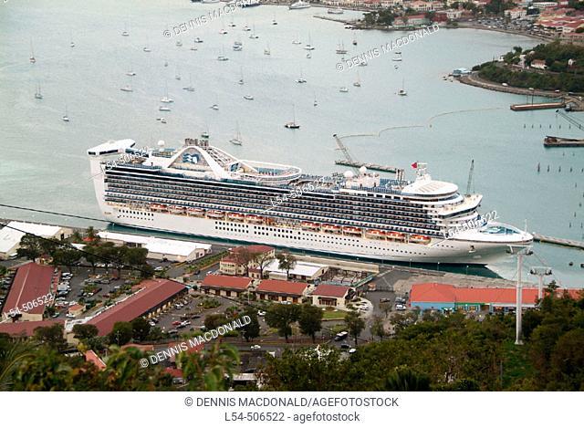 Cruise ship at port. St. Thomas. U.S. Virgin Islands, West Indies