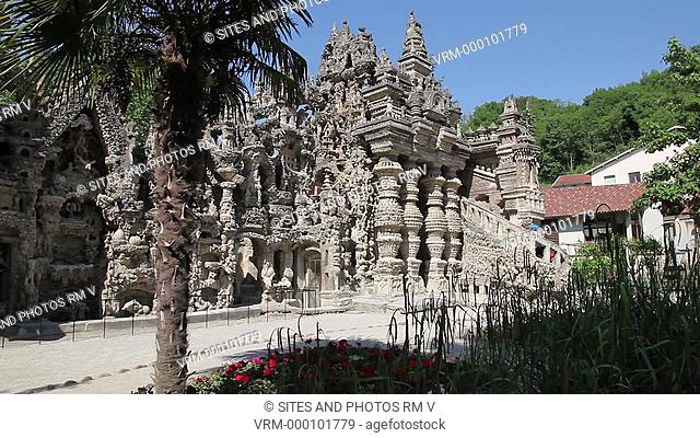 LA, daylight, exterior. From 1879 to 1912, French postman Ferdinand Cheval built his Ideal Palace. Cheval built the palace with stones he had collected during...
