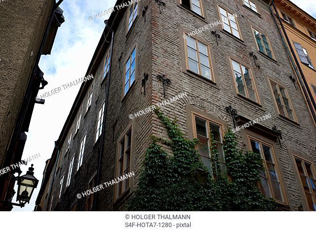 Schweden, Stockholm, Hausfassade