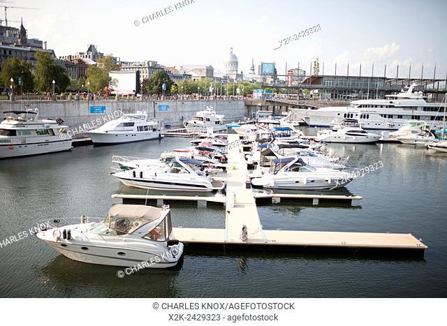 Popular tourist area called le Vieux port of montreal, Quebec, Canada