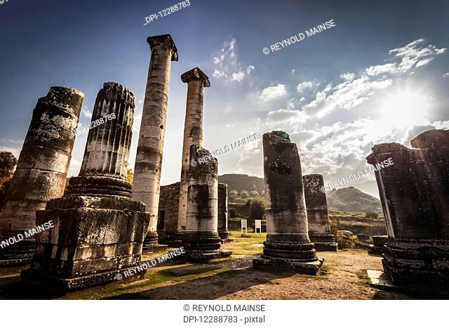Ruins of the Temple of Artemis; Sardis, Turkey