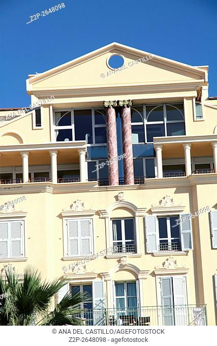 Cote d'Azur along Promenade des Anglais in Nice France