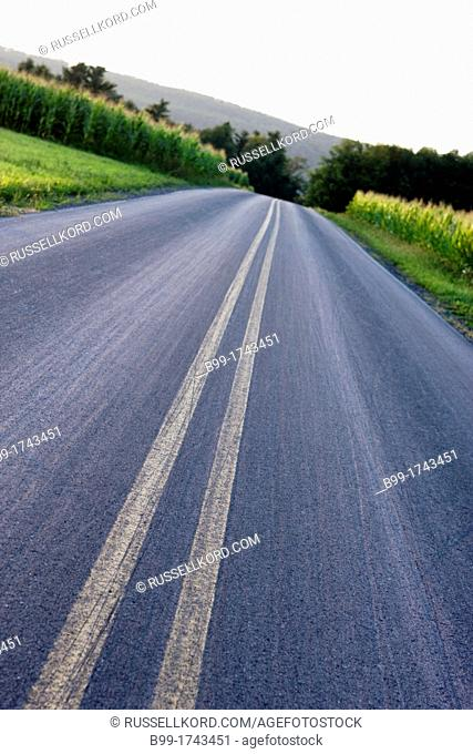 Road Lamar Clinton County Pennsylvania USA