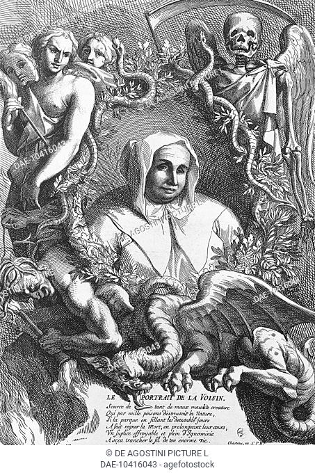 Affair of the Poisons, Catherine Deshayes, known as La Voisin (Paris, 1640-1680), fortune teller, witch, midwife, tried and burned at the stake in 1681