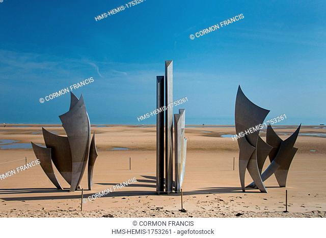 France, Calvados, Saint Laurent sur Mer, Omaha Beach, The Braves memorial by Anilore Banon