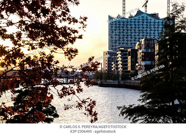 District of Hafencity, the most modern urban developtment at Europe, Hamburg, Germany