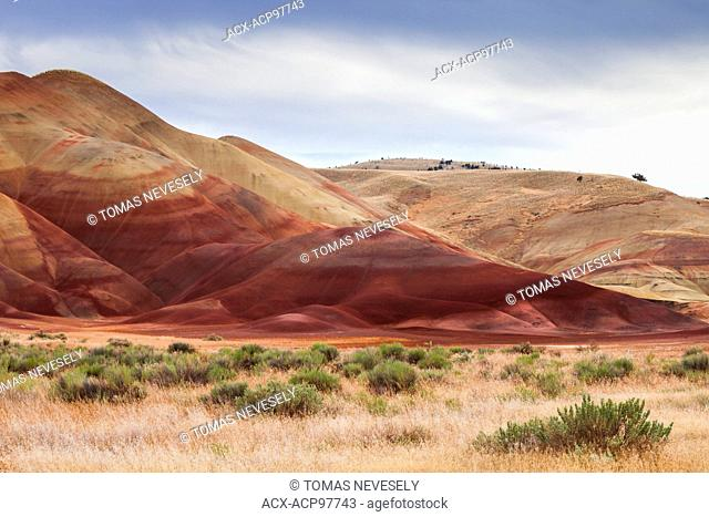 The Painted Hills, part of the John Day Fossil Beds National Monument, Oregon, USA