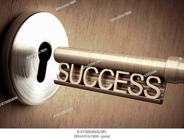 The key to success, conceptual illustration