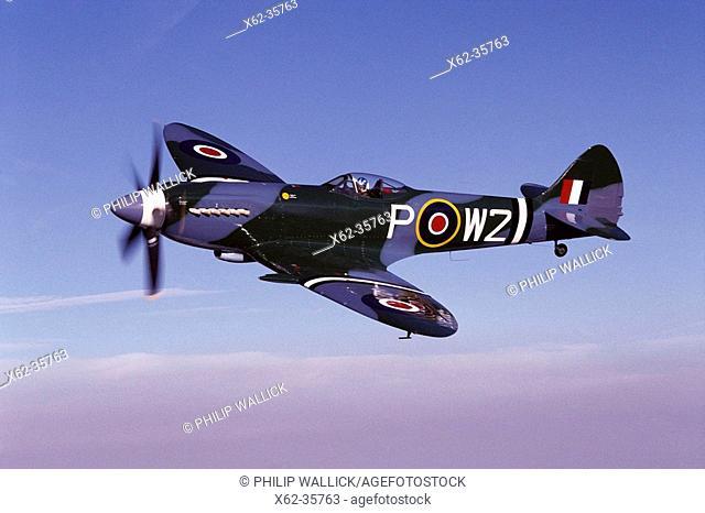 World War II British fighter: Supermarine Spitfire, restored