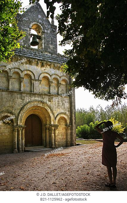 Romanesque church on the Way of St James, Tauriac, Gironde, Aquitaine, France
