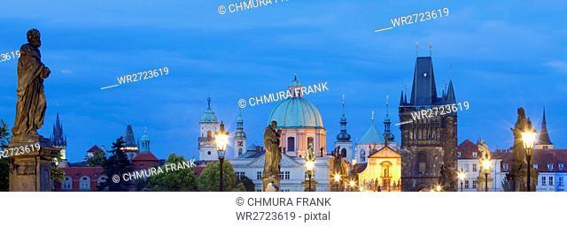 architecture, art, beauty, church, city, cityscape, colour, dusk, Europe, landmark, old, Prague, praha, sky, space, statue, tower, town, travel, Czech Republic