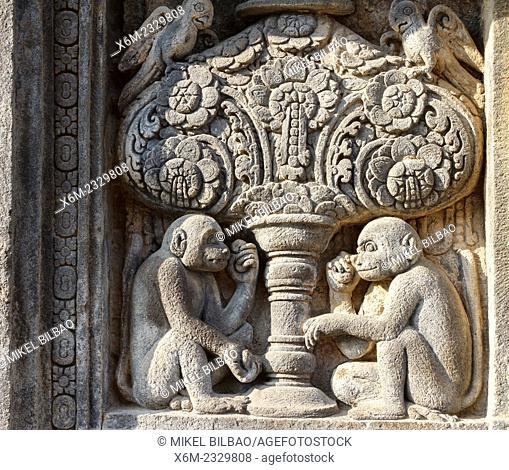 Architectural detail. Prambanan Hindu temple. Central Java. Indonesia, Asia