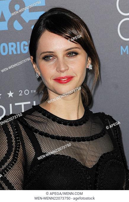 20th annual Critics' Choice Movie Awards at the Hollywood Palladium - Arrivals Featuring: Felicity Jones Where: Los Angeles, California