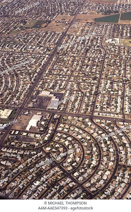 Suburban Growth outside Phoenix, AZ, from Air, Arizona