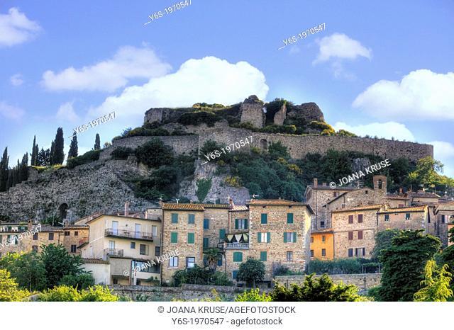 Castiglione d'Orcia, Rocca d'Orcia, Siena, Tuscany, Italy