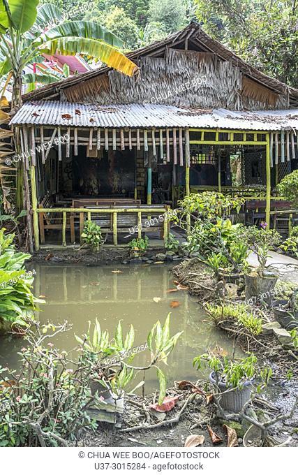 A small canteen at Kota Pemangkat, West Kalimantan, Indonesia