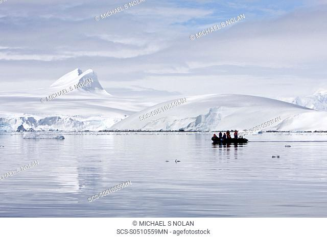 Guests from the Lindblad Expedition ship National Geographic Explorer doing various things in and around the Antarctic Peninsula in the summer months Lindblad...