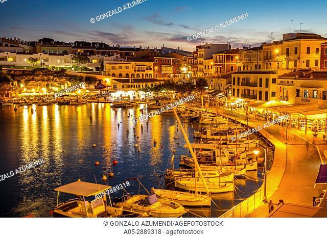 Cales Fonts. Es Castell. Villacarlos Municipality. Minorca. Balearic Islands. Spain