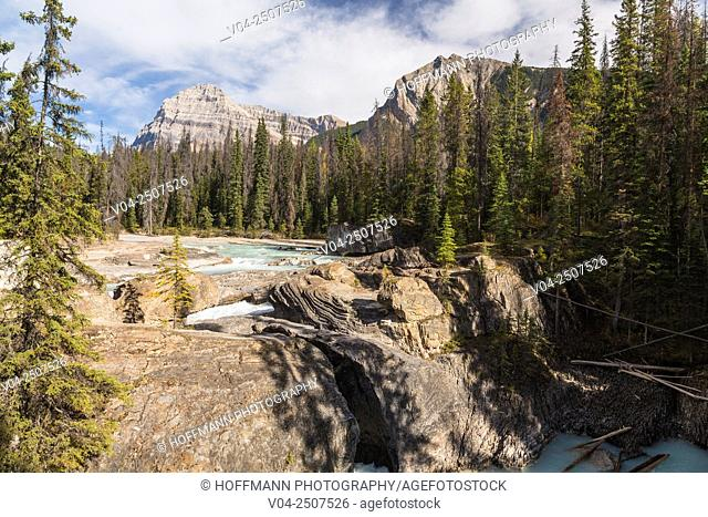 Natural Bridge and Kicking Horse River in the Yoho National Park, British Columbia, Canada