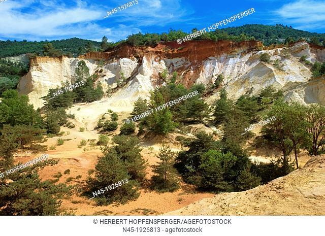 Ocher Quarry; Cliffs; Colorado; Roussillon; Provence; France