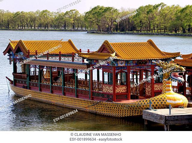 Beijing Summer Palace: lake boat