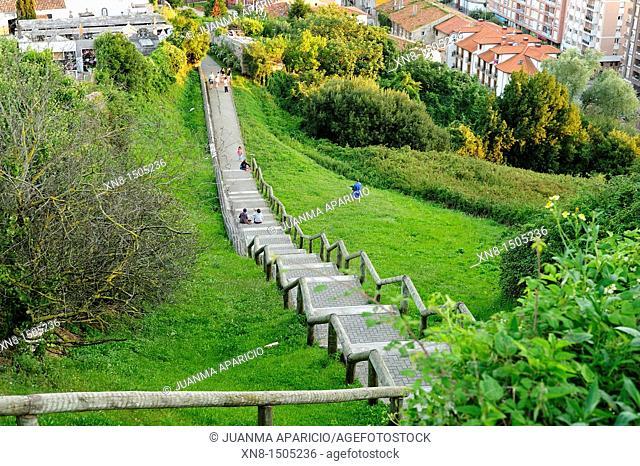 Way to fortification Rastrillar in Laredo, Cantabria, United Kingdom