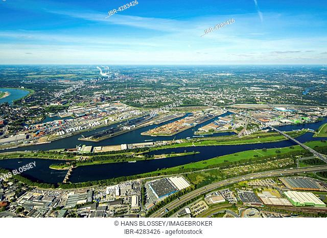 Location Logistics Duisport, Duisburg harbor, container port, Ruhr and Rhine-Herne Canal, inland water transport, Duisburg, Ruhr district
