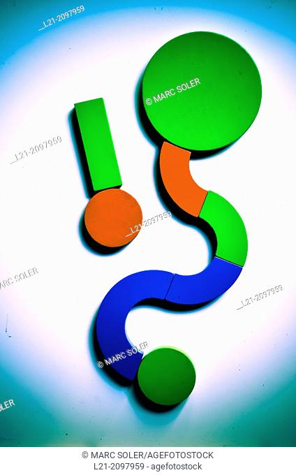 Design, draw, with wooden building blocks in vibrant colors isolated on withe background