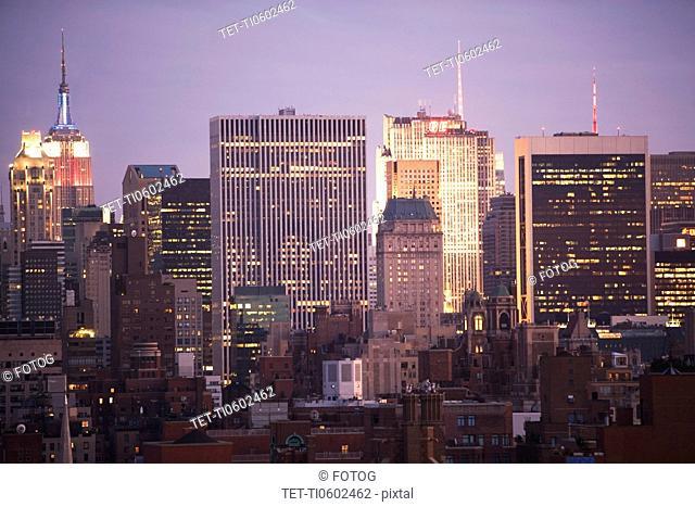 USA, New York State, New York City, City Skylines
