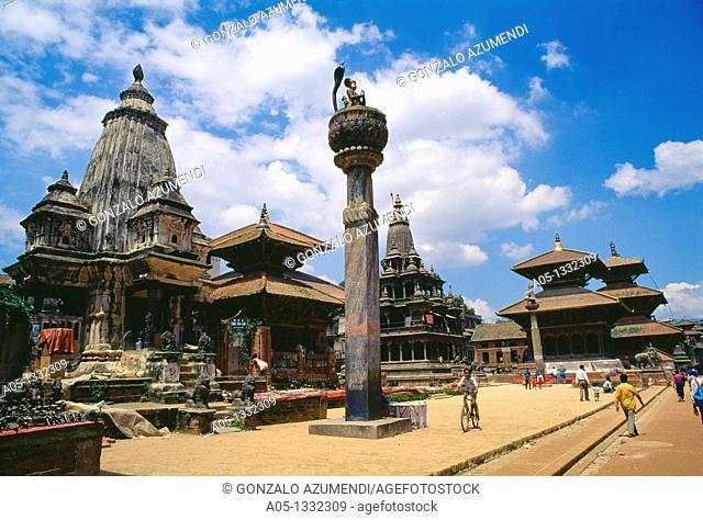Temple at Durbar Square of Patan  Lalitpur  Kathmandu  UNESCO World Heritage Site  Nepal  Asia