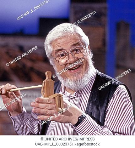 Der deutsch amerikanische Moderator, Sänger und Schauspieler Bill Ramsey, Deutschland 1990er Jahre. German America, TV and radio presenter