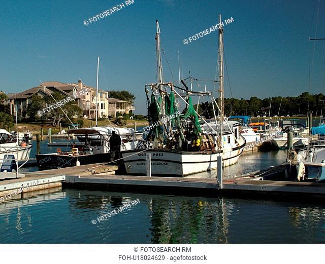 Hilton Head Island, SC, South Carolina, Sea Pines, South Beach Marina