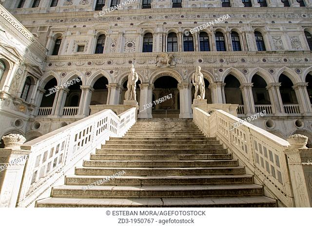 Stairs of Palazzo Ducale, Venice, Italy