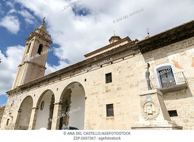 Fortanete village in Teruel Aragon Spain The parish church