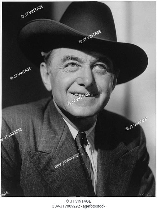 Actor Harry Carey, Publicity Portrait, 1935