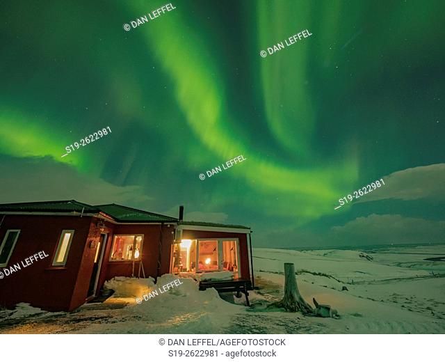 Iceland Hrifunes Guesthouse Northern Lights