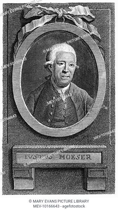 JUSTUS MOSER (or Moeser) German statesman, writer and so on