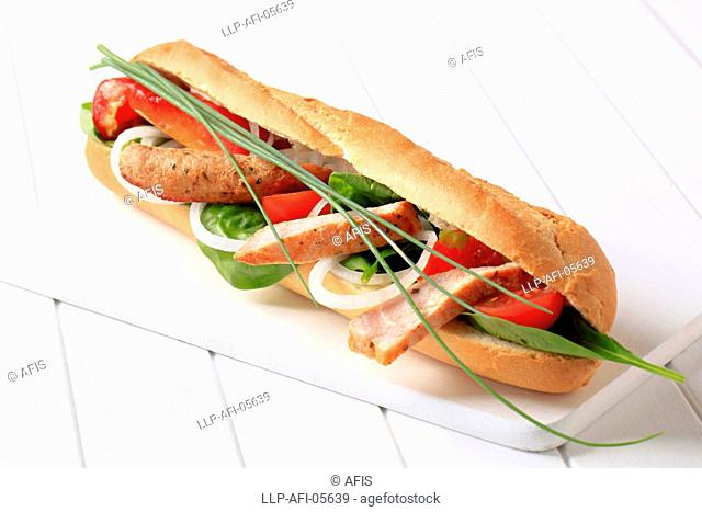 Chicken sub sandwich