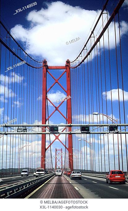 25th of April Bridge Lisbon  Portugal